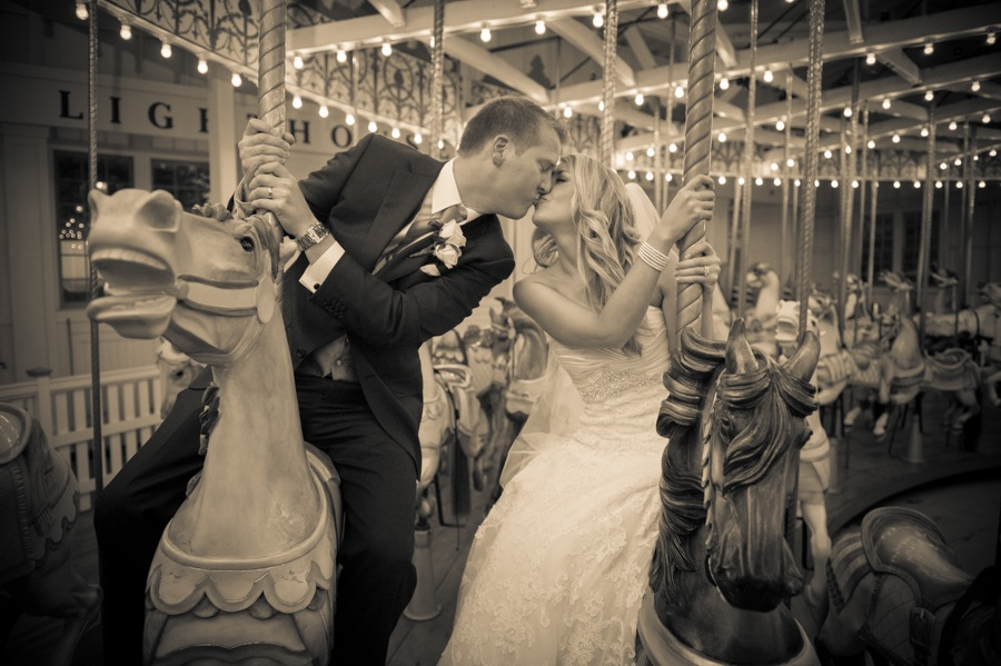Lighthouse Point Park Carousel Wedding