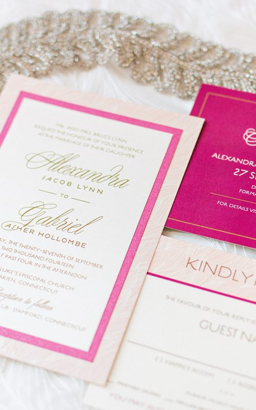 Modern Lace Wedding Invitation