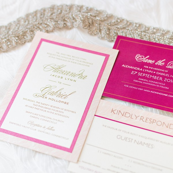 Modern Lace Wedding Invitation