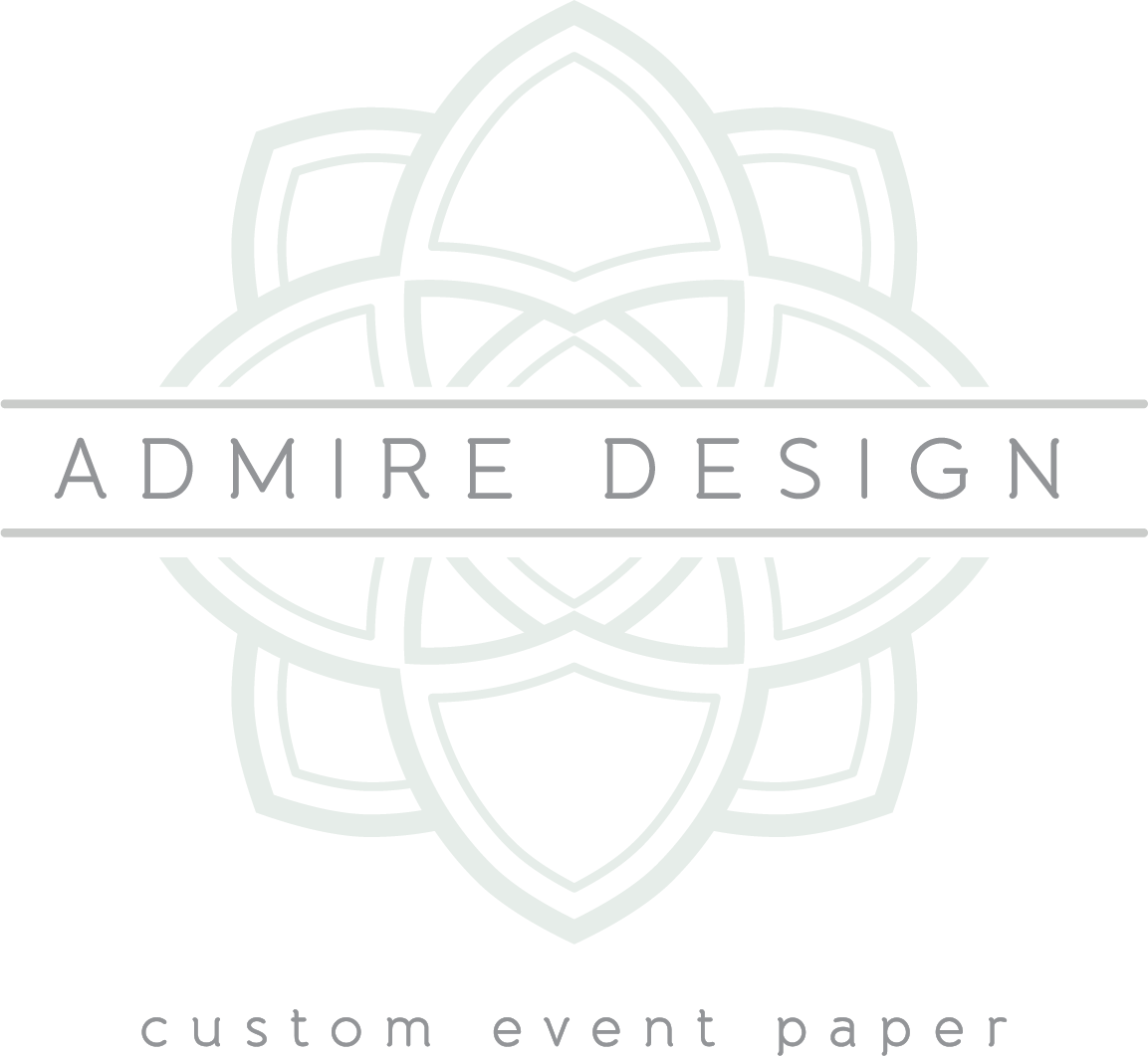 Admire Design | Custom Event Paper